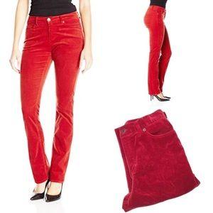 Lauren Ralph Lauren Red Velour Pants sz 10